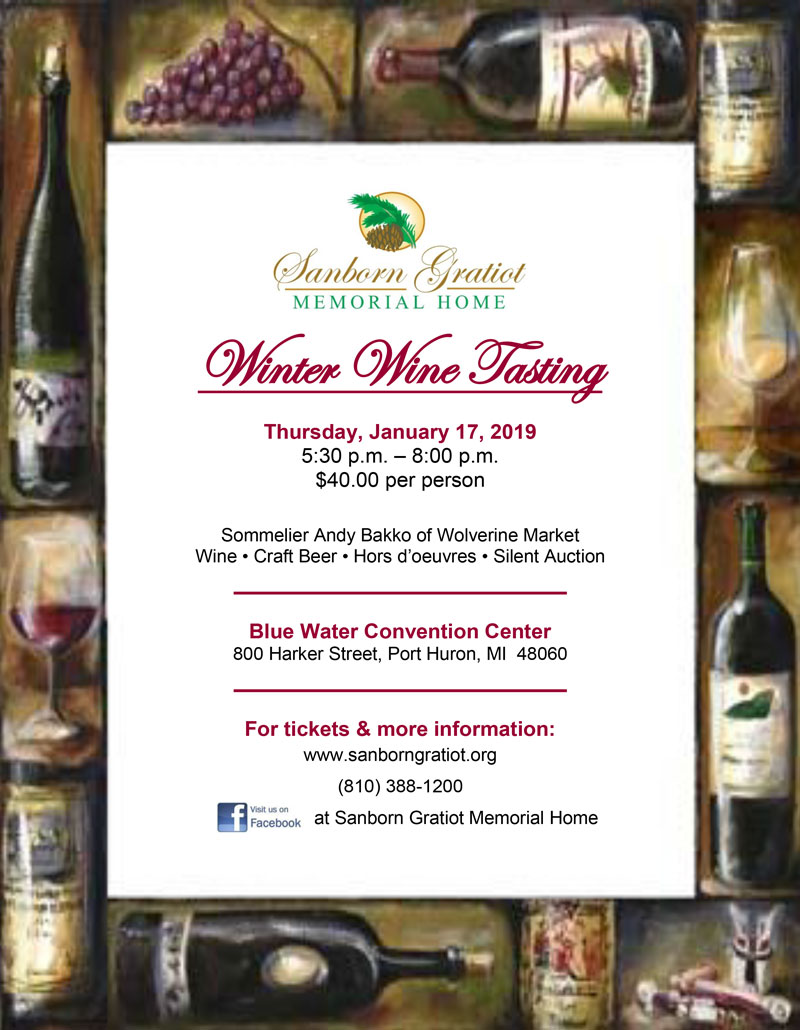 Winter Wine Tasting info flyer
